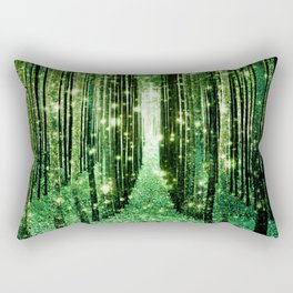 Magical Forest Green Elegance Rectangular Pillow