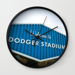 Welcome to Dodger Stadium | Los Angeles California Nostalgic Iconic Sign Art Print Tapestry Wall Clock