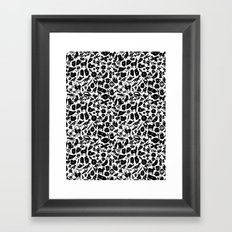 Alphabet Compendium Letter Silhouette Pattern Framed Art Print