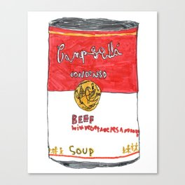 Can of Beef Soup  Canvas Print