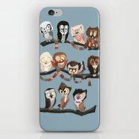 doctor iPhone & iPod Skins featuring Doctor Hoo - Painted Version by pupukachoo