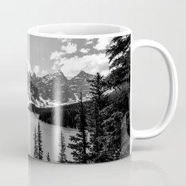 Moraine Lake | Black and White | Landscape Photography | Wildernest Coffee Mug