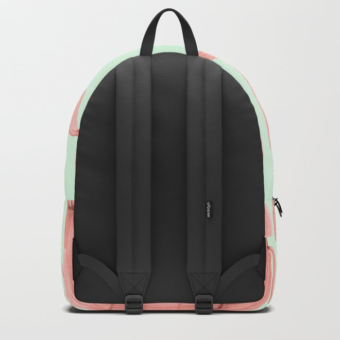 Cactus Stack Pink + Mint Backpack