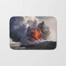 Kilauea Volcano at Kalapana 8 Bath Mat