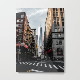 Lower Manhattan One WTC Metal Print