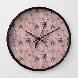 grunge sun pattern dark Wall Clock