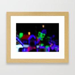 Christmas bokeh V Framed Art Print