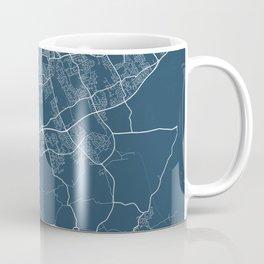 Middlesbrough Blueprint Street Map, Middlesbrough Colour Map Prints Coffee Mug