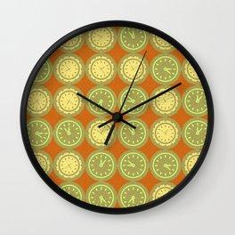 Round clocks pattern Wall Clock