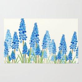 blue grape  hyacinth forest Rug