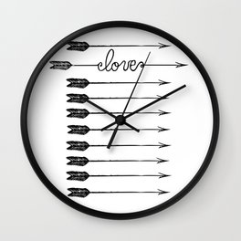 Love Arrows Wall Clock