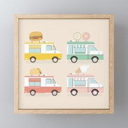 Food Trucks Framed Mini Art Print