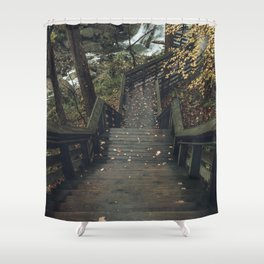 the fall Shower Curtain