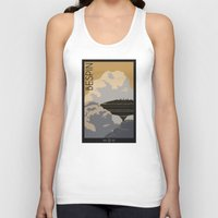 travel poster Tank Tops featuring Bespin Travel Poster by Tawd86