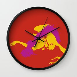 Milicent over saturated pop art Wall Clock