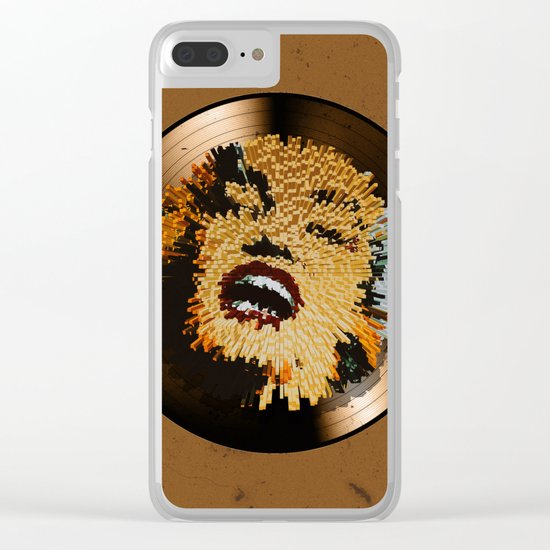 Vinyl No.4 Clear iPhone Case