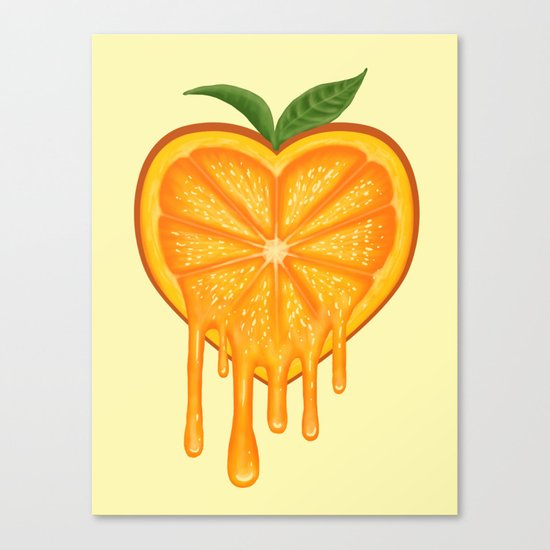 Love Orange Canvas Print