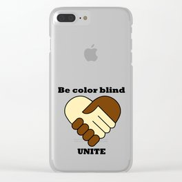 Anti racism theme Clear iPhone Case
