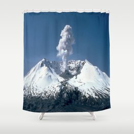 Mount St. Helens 🌋 Volcano  Shower Curtain
