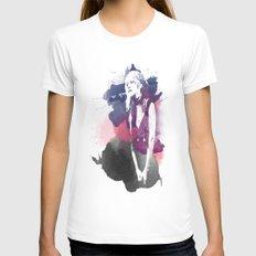 Stevie Nicks White MEDIUM Womens Fitted Tee