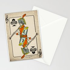 musical poker / Baroque oboe Stationery Cards