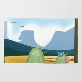 Desert and cactus Rug