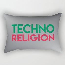 Techno religion rave music quote Rectangular Pillow