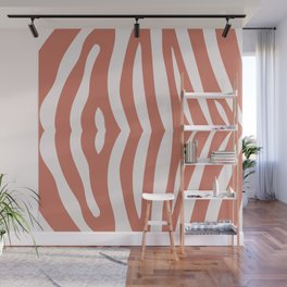 Zebra living coral pattern Wall Mural