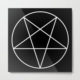 Inverted Pentagram Metal Print