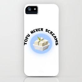 Tofu Never Screams iPhone Case