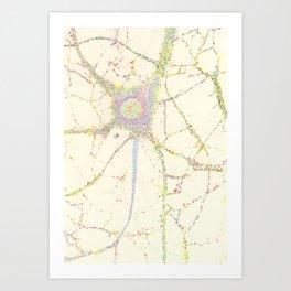 Neuron, brain cell. Art Print