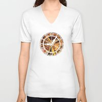 clockwork V-neck T-shirts featuring CLOCKWORK by Stephanie Lue