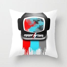 MajorTom space helmet Bowie fanart  Throw Pillow