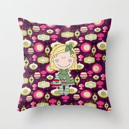 The Cute Little Ornament Girl Throw Pillow