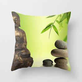 Spiritual calm Throw Pillow