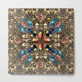 Colorful Camoflage Beetle Mandala Metal Print