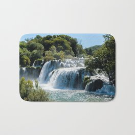 Waterfall in Krka NP - Croatia Bath Mat