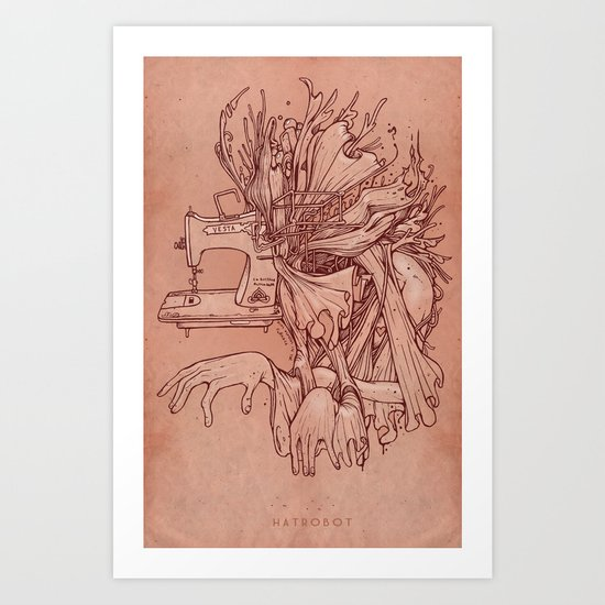 Nine minutes in the furnace Art Print
