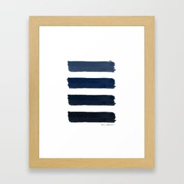 Indigo blue Stripes Framed Art Print