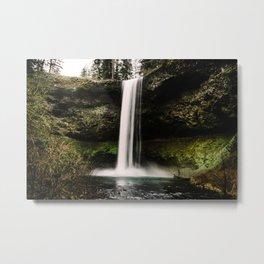 Silver Falls Metal Print