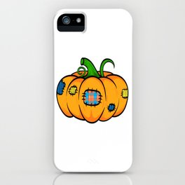 """Great Halloween Sirt Costume For November October """"Pumpkin"""" T-shirt Design Fruit Sew Sewing Patch iPhone Case"""