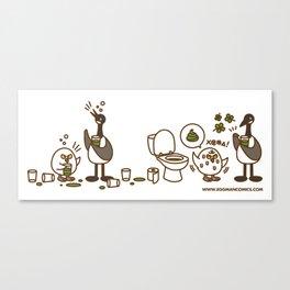 Eggman Comics - Green Beer Canvas Print