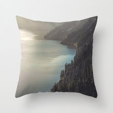 First Light at the Lake II Throw Pillow