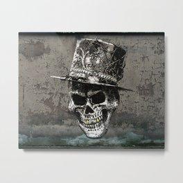 Spray Paint - Smiling Skull Metal Print