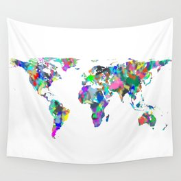 Spray Map Wall Tapestry