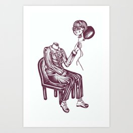 Boy with Balloon Art Print