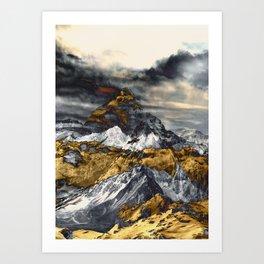 Gold Mountain Art Print