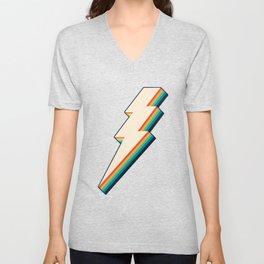Vintage Lightning Bolt Unisex V-Neck