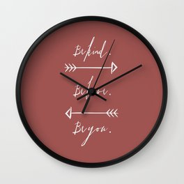 Be Kind, Be Brave, Be You (Red) Wall Clock