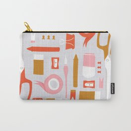 Stationary Pattern Carry-All Pouch